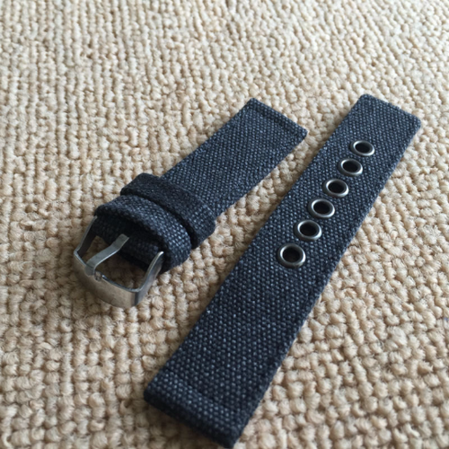 Handmade  Nylon Strap NATO Denim gray black Top Gun IWC Timex Rolex Seiko Hamilton Daniel Wellington Panerai DW strap watch band 20 22 mm custom made