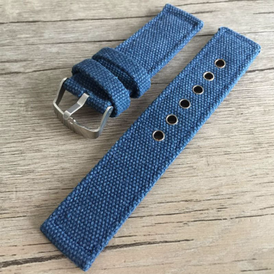 Handmade  Nylon Strap NATO Denim blue Top Gun IWC Timex Rolex Seiko Hamilton Daniel Wellington Panerai DW strap watch band 20 22 mm custom made