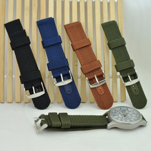 Handmade Gray Nylon Strap NATO Top Gun IWC Timex Rolex Seiko Hamilton Daniel Wellington Panerai DW strap watch band 20 22 mm custom made