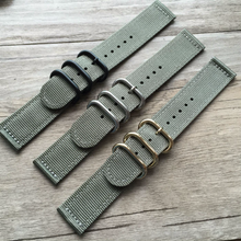 Handmade Gray Nylon Strap NATO Top Gun IWC Timex Rolex Seiko Hamilton Daniel Wellingtonwatch strap watch band 20 22 24 26 mm custom made