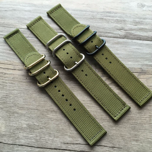 Handmade Green Nylon Strap NATO Top Gun IWC Timex Rolex Seiko Hamilton Daniel Wellington watch strap watch band 18 20 22 24 mm custom made