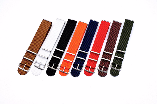 Handmade Nylon red Strap Nato Brown IWC Timex Rolex Seiko Hamilton Daniel Wellington Panerai DW strap watch band 16 18 20 22mm custom made