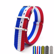 Handmade Nylon red blue Strap Nato striped IWC Timex Rolex Seiko Hamilton Daniel Wellington Panerai DW strap watch band 18 20 mm custom made