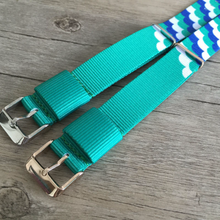 Handmade Lake Blue color Nylon Strap NATO IWC Timex Rolex Hamilton Daniel Wellington Panerai DW strap watch band 20 22 mm custom made