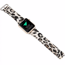 Handmade Smart Apple Watch Strap iwatch I Nation Strap Leopard Pattern Cow Leather Nylon Nato Top Watchband DW band 38 42mm custom Steel