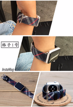 Handmade Smart Apple Watch Strap iwatch I nylon Scottish lattice Strap Nylon Top band 38 42mm custom made