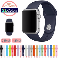 Handmade Smart Apple Watch Strap iwatch I Strap Hot Silica gel rubber 21 colors blue green black red orange Nato Watchband DW band 38 42mm