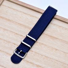 On Sale Handmade Stripe Nylon Strap Nato Dark Navy Blue IWC Timex Rolex Hamilton Daniel Wellington DW strap watch band 16 18 20 22 mm custom made