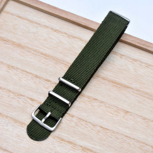 ON SALE Handmade Stripe Nylon Strap Nato Green IWC Timex Rolex Hamilton Daniel Wellington DW strap watch band 16 18 20 22 mm custom made