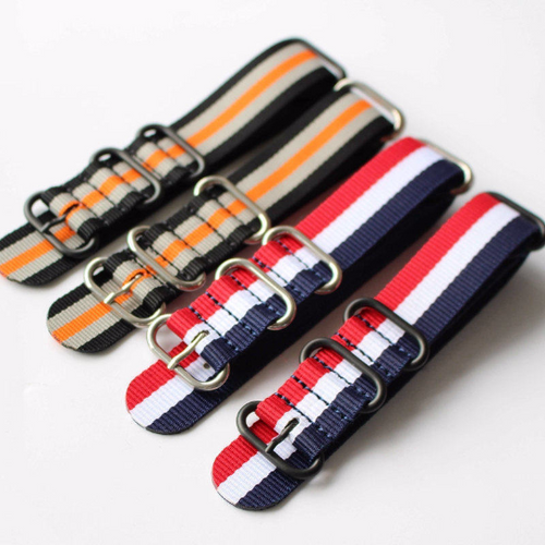 Handmade Orange Stripe Nylon Strap Nato IWC Timex Rolex Hamilton Daniel Wellington Panerai DW strap watch band 20 22 mm custom made