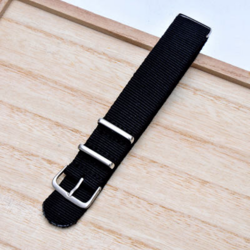 ON SALE Handmade Stripe Nylon Strap Nato Steel Black IWC Timex Rolex Hamilton Daniel Wellington DW strap watch band 16 18 20 22 mm custom made