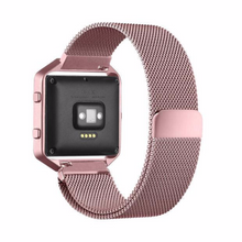 Metal Stainless steel 316L Handmade Smart Fitbit Blaze Watch Strap Pink Gold Color Clasp Milanese Loop Buckie SmartWatch custom Watchband