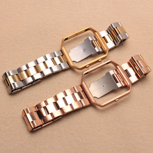 Metal Stainless steel 316L Handmade Smart Fitbit Blaze Watch Strap Rose Gold Silver Color Clasp colorful Buckie SmartWatch custom Watchband
