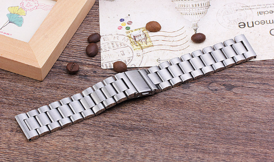Metal Stainless steel 316L Handmade Smart Fitbit Blaze Watch Strap Silver Colorful Clasp colorful Buckie SmartWatch custom Watchband