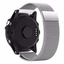 Metal Stainless steel 316L Handmade Smart garmin fenix 3 Watch Strap Stainless Steel Silver Clasp Milanese Loop Buckie SmartWatch custom Watchband