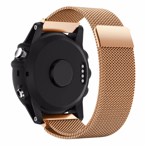 Metal Stainless steel 316L Handmade Smart garmin fenix 3 Watch Strap Rose Gold Clasp Milanese Loop Buckie SmartWatch custom Watchband