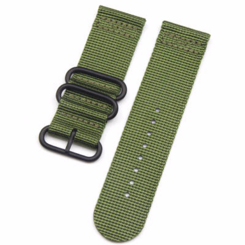 Nato Nylon Cotton Denim Handmade Smart Garmin fenix 3 Green Watch Strap and clasp Stainless steel Buckie SmartWatch custom Watchband 26 mm