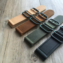 New Arrival Handmade IWC Rolex Seiko Hamilton Panerai Nato Real Cow Leather Strap watch band custom made