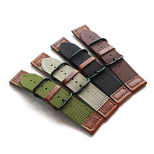 New Arrival Handmade PaneraI Seiko Rolex Real Cow Leather + Nylon Strap watch band custom made 20MM 22MM 24MM