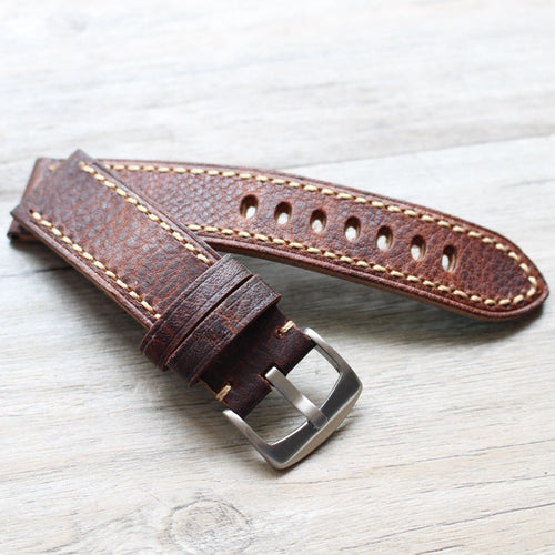 New Arrival Handmade PaneraI Seiko Rolex Real Cow Leather Strap watch band custom made 20MM 22MM 24MM 26MM
