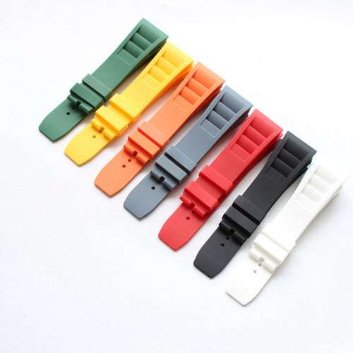 New Arrival Handmade RICHARD MILLE silicone Rubber Strap watch band custom made 20mm