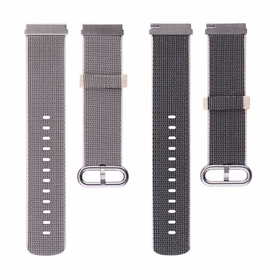 Nylon Cotton sports Handmade Smart Fitbit Blaze Watch Strap Double sided Gray Black color colorful Buckie SmartWatch custom Watchband