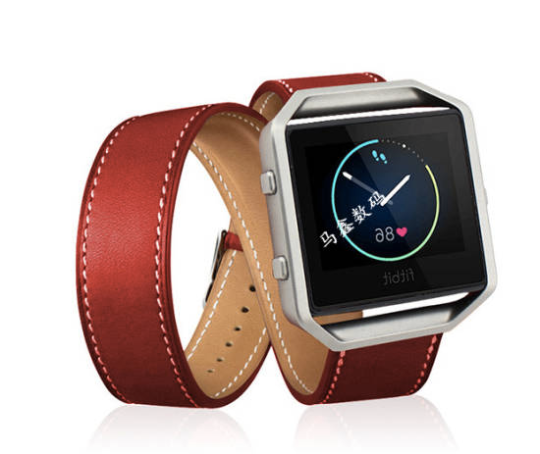 Real Cow Leather Handmade Smart Fitbit Blaze Watch Strap Pilot Style Brown Red color colorful Buckie SmartWatch custom Watchband