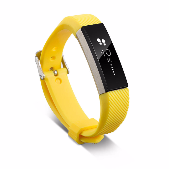 Silicone sports Handmade Smart Fitbit Alta Watch Strap Yellow Color colorful Buckie SmartWatch custom Watchband