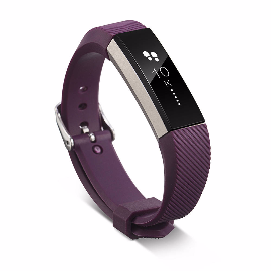 Silicone sports Handmade Smart Fitbit Alta Watch Strap Dark Purple Color colorful Buckie SmartWatch custom Watchband
