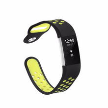 Silicone sports Handmade Smart Fitbit Charge 2 Watch Strap colorful Fluorescent yellow Magnetic SmartWatch band custom Watchband Fit Bit