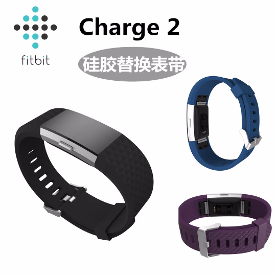 Silicone sports Handmade Smart Fitbit Charge 2 Watch Strap red blue colorful Loop sliver Magnetic SmartWatch band custom Watchband Fit Bit