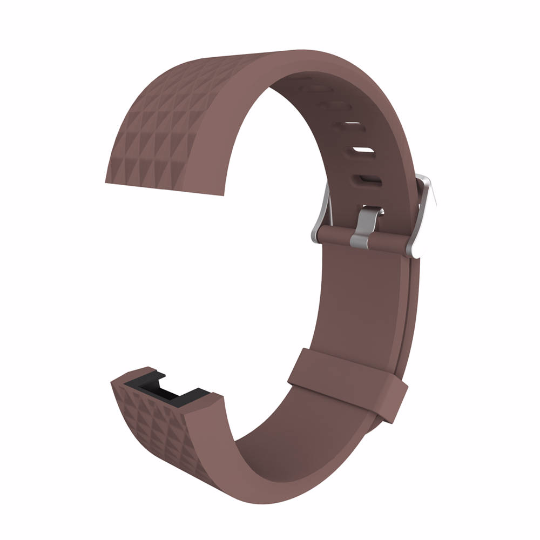 Silicone sports Handmade Smart Fitbit Charge 2 Watch Strap Brown colorful Loop sliver Magnetic SmartWatch band custom Watchband Fit Bit