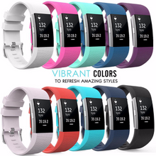 Silicone sports Handmade Smart Fitbit Charge 2 Watch Strap red blue navy pink colorful Loop sliver Magnetic SmartWatch band custom Watchband Fit Bit