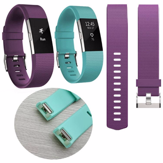 Silicone sports Handmade Smart Fitbit Charge 2 Watch Strap Lake Blue Purple colorful Loop Magnetic SmartWatch band custom Watchband Fit Bit