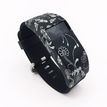 Silicone sports Handmade Smart Fitbit Charge Watch Strap Black White Laze Flower Color colorfu cover covers case SmartWatch custom Watchband