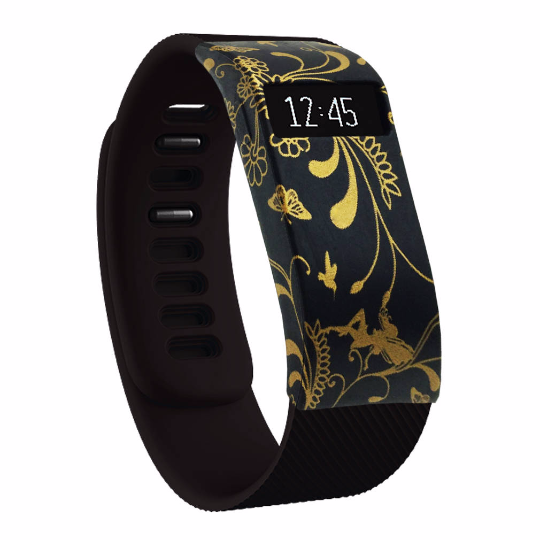 Silicone sports Handmade Smart Fitbit Charge Watch Strap Gold Flower Color colorfu cover covers case SmartWatch custom Watchband