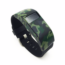 Silicone sports Handmade Smart Fitbit Charge Watch Strap Green Camo Color colorful Loop sliver cover covers SmartWatch band custom Watchband