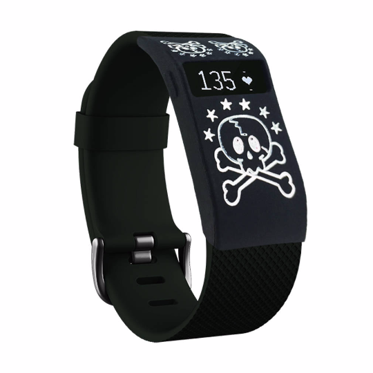 Silicone sports Handmade Smart Fitbit Charge Watch Strap grid black skull cute Color colorfu cover covers case SmartWatch custom Watchband