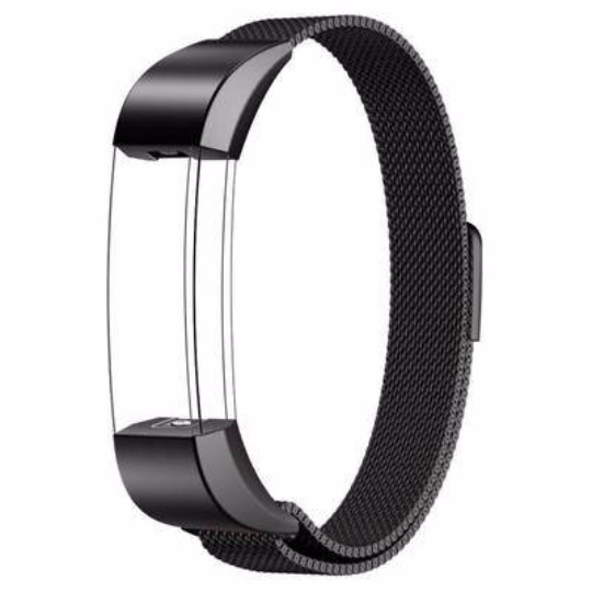 Stainless Steel Handmade 316L Smart Fitbit Alta Watch Strap Milanese Black Gray Color colorful cover covers case SmartWatch custom Watchband