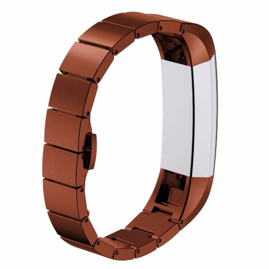 Stainless Steel Handmade 316L Smart Fitbit Alta Watch Strap Milanese Brown Color colorful cover covers case SmartWatch custom Watchband