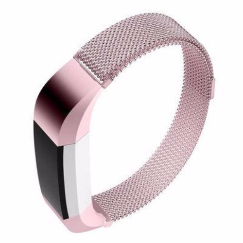 Stainless Steel Handmade 316L Smart Fitbit Alta Watch Strap Milanese Pink Gold Color colorful cover covers case SmartWatch custom Watchband