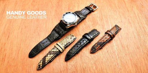 New Arrival Japan Handmade Navy For IWC Rolex Seiko Hamilton Omega Classic Real Thai python skin Leather Strap Watch Band Tailor Made