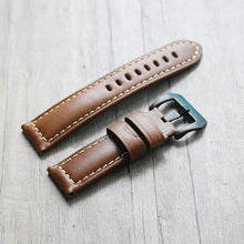 New Arrival Handmade  Rolex Seiko Real Cow Leather Strap watch band custom made 22 24 26MM