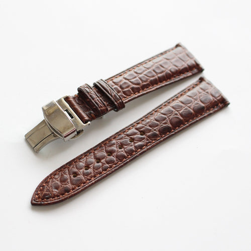 New Arrival Rolex Seiko IWC Real Alligator Leather Strap watch band custom made 20mm