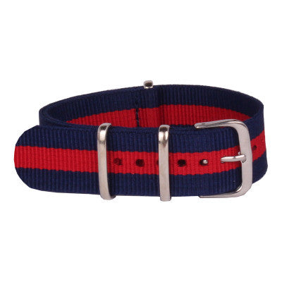 New Arrival Handmade Navy Red Nylon Leather Strap NATO IWC Rolex Seiko Hamilton Panerai  strap watch band custom made