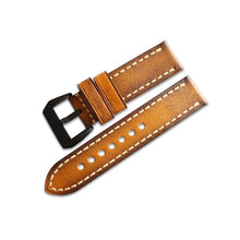 New Arrival  Brown Handmade Rolex Seiko Panerai Real Cow Leather Strap watch band custom made 20 22 24 26MM