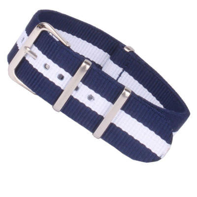 New Arrival Handmade Blue White Nylon Leather Strap NATO IWC Rolex Seiko Hamilton Panerai  strap watch band custom made