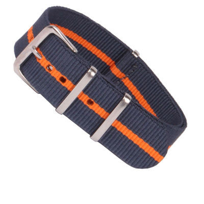 New Arrival Handmade Classic Navy Orange Nylon Leather Strap NATO IWC Rolex Seiko Hamilton Panerai  strap watch band custom made