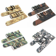 New Arrival Handmade Camo Nylon Leather Strap NATO IWC Rolex Seiko Hamilton Panerai  strap watch band custom made