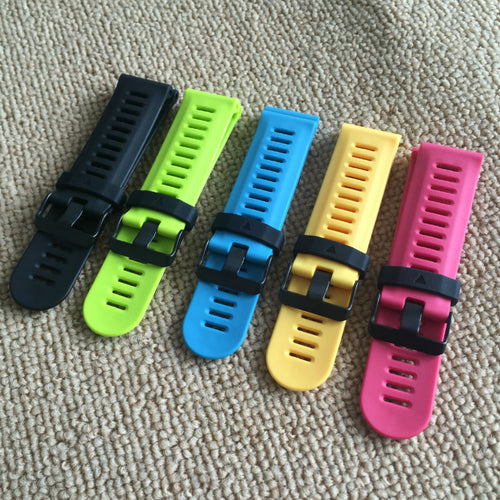 New Arrival Handmade silicone Rubber Strap Fit For Garmin Fenix 3/2 Smartwatch watch band custom made